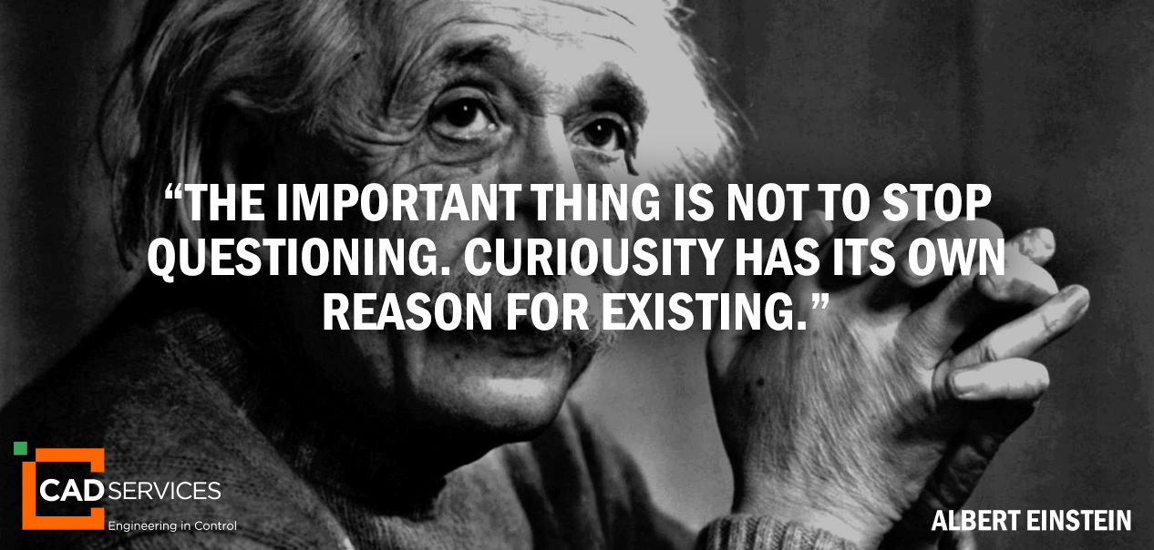 curiosity quote Einstein